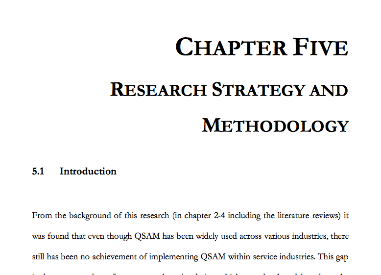 phd thesis chapter methodology Writing up your phd (qualitative research) 3 the methodology chapter 29-37 unpublished phd thesis.