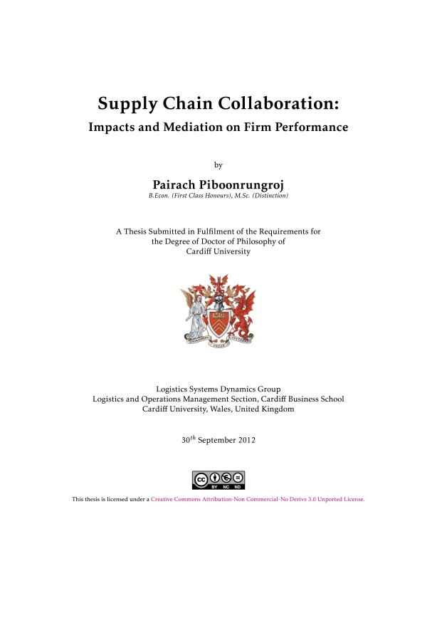 Phd thesis on logistics